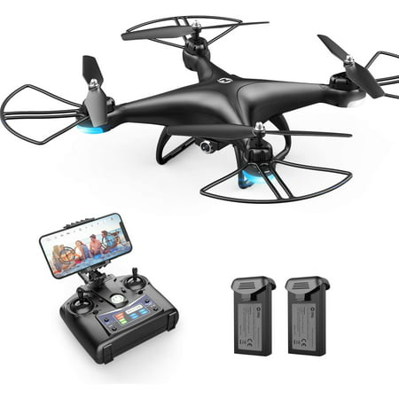 Holy Stone HS110D FPV RC Drone with Camera and Video 1080P 120° Wide-Angle WiFi Quadcopter for kids and beginners Altitude Hold Headless Mode 3D Flips 2 Batteries