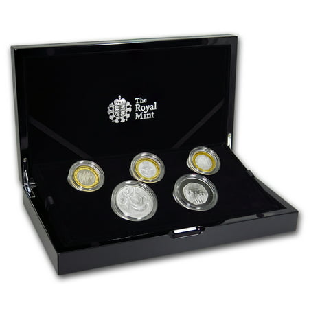 2018 Great Britain 5-Coin Silver Piedfort Proof Set (2018 Coin Proof Set)