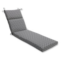 Pillow Perfect Outdoor/ Indoor In The Frame Ebony Chaise Lounge Cushion
