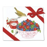 Alices Cottage AC34446 Berry Bowl Flour Sack Towel - Set of 2