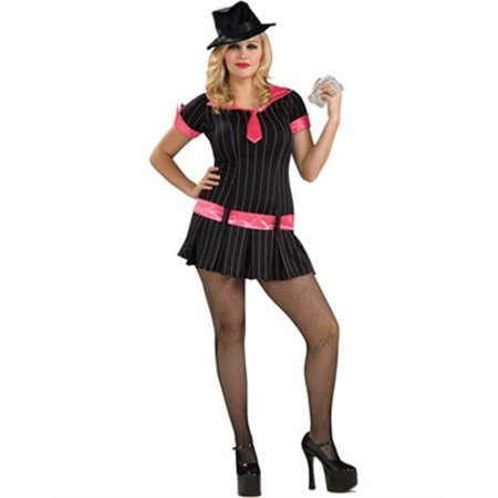 Adults  Full Figure Roaring 20s Gangsta Gangster Girl Costume - Full Figure Costumes