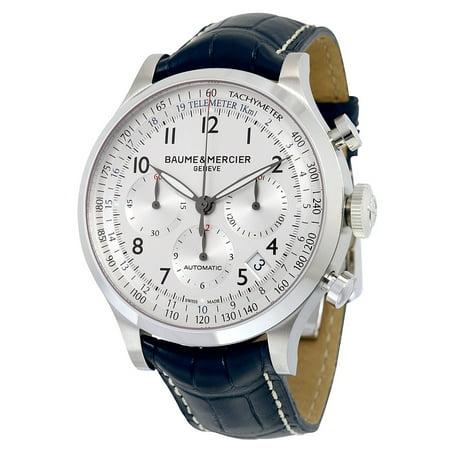 magasin en ligne f5f01 2c8d8 Baume and Mercier Capeland Chronograph Blue Leather Mens Watch 10063