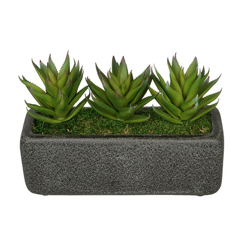 House of Silk Flowers Inc. Artificial Green Aloe Plant in Decorative Vase