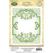 "JustRite Papercraft Cling Background Stamp 4.5""X5.75""-Grand Elegance"