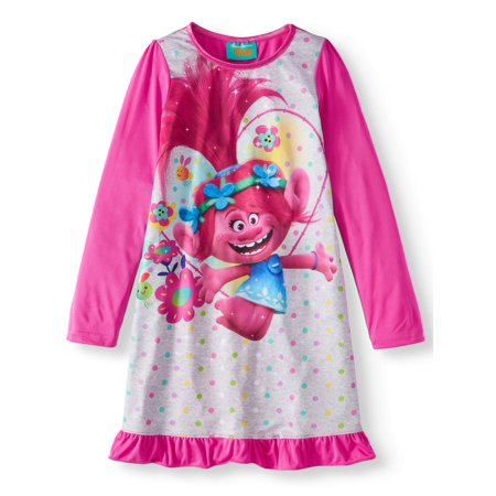 trolls movie princess poppy pink - Princess Night Gown