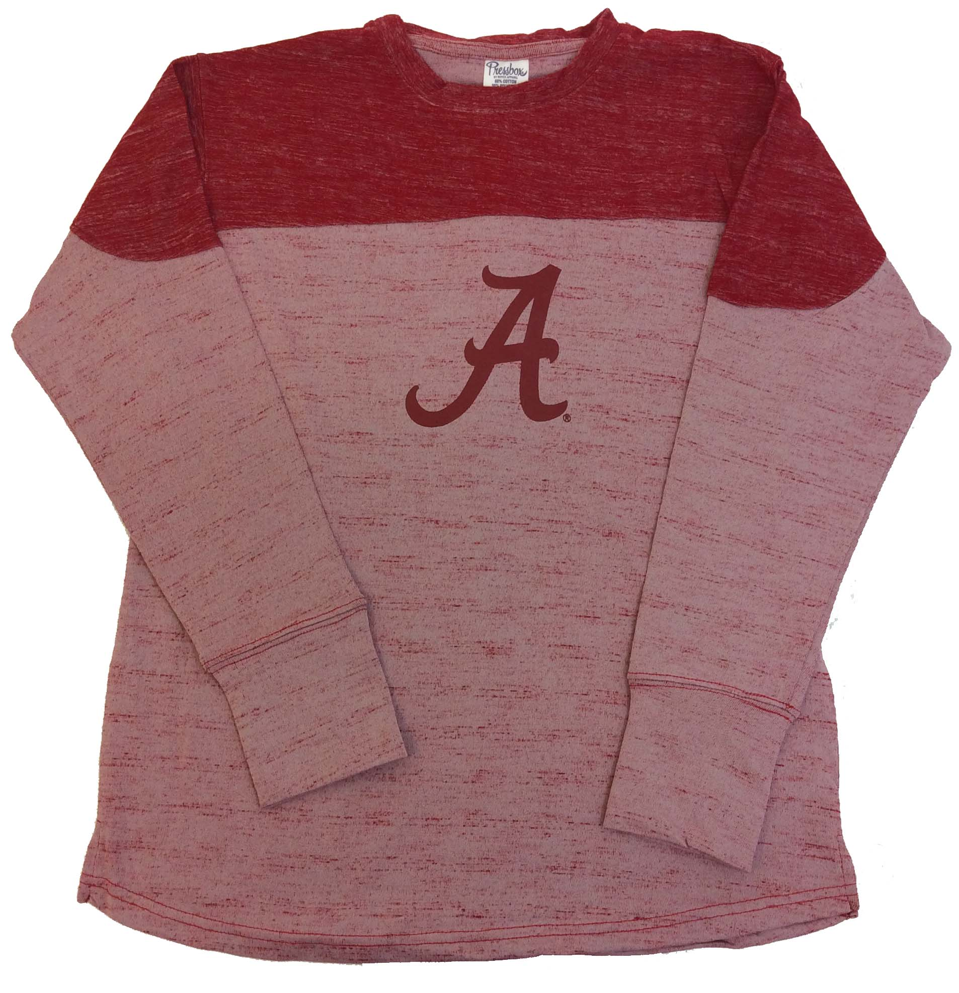 Pressbox Alabama Crimson Tide Fieldman Oversized Long Sleeve Tee