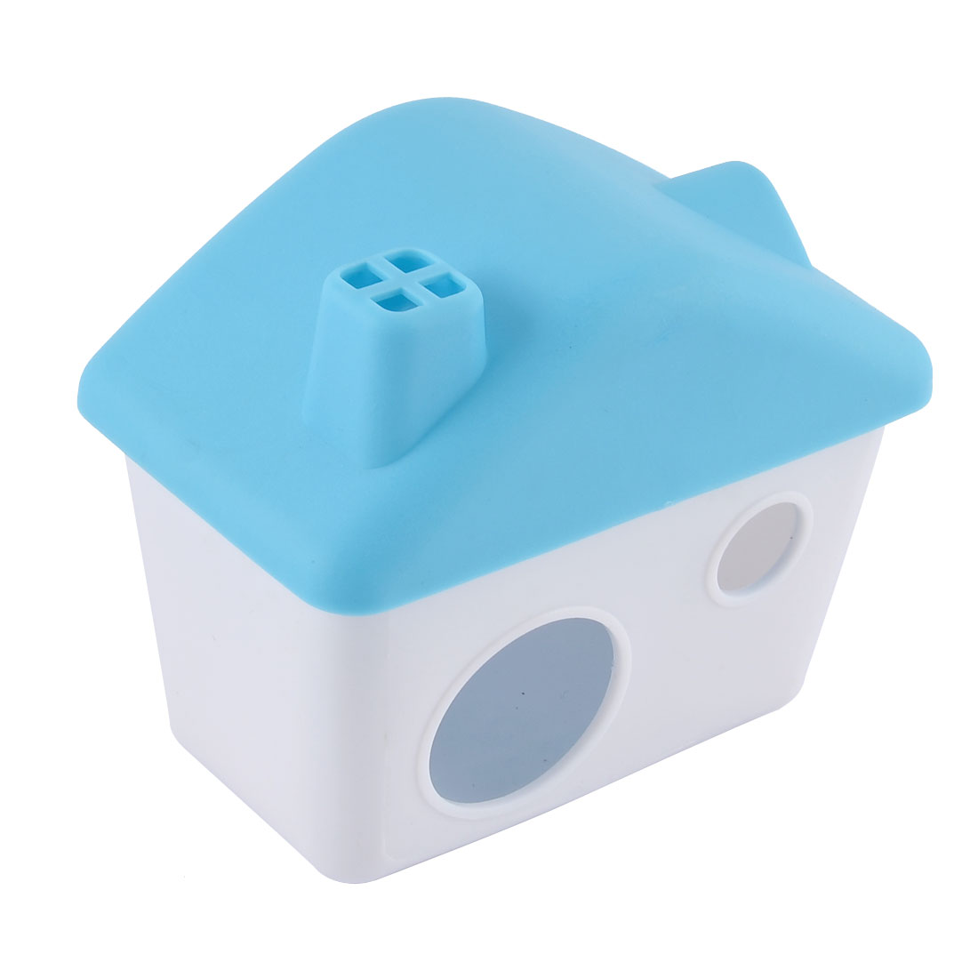 Plastic Cabin Shaped Portable Comfortable Pet Removable Hamster House Blue by Unique-Bargains