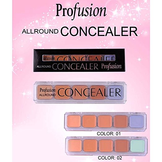 Quality  5 Color Makeup Corrector Concealer Palette - Color  02 (COSK002  ZZ)