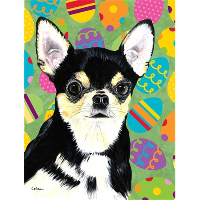 Carolines Treasures SC9479CHF 28 x 40 in. Chihuahua Easter Eggtravaganza House Size Canvas Flag - image 1 of 1