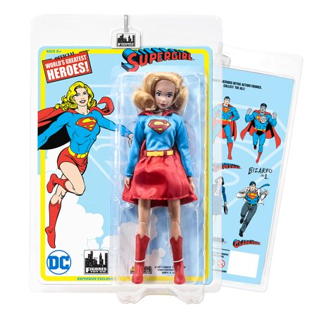 DC Comics Superman Retro 8 Inch Action Figures: Supergirl [Dress - Superman And Supergirl