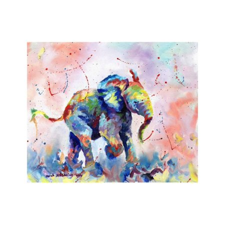 - African Elephant Baby Kids Art Colorful Abstract Animal Print Wall Art By Sarah Stribbling