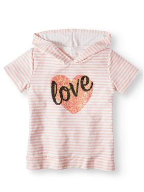 3f0c0ff97b0 Product Image Embellished Love Striped Hoodie Top (Big Girls)