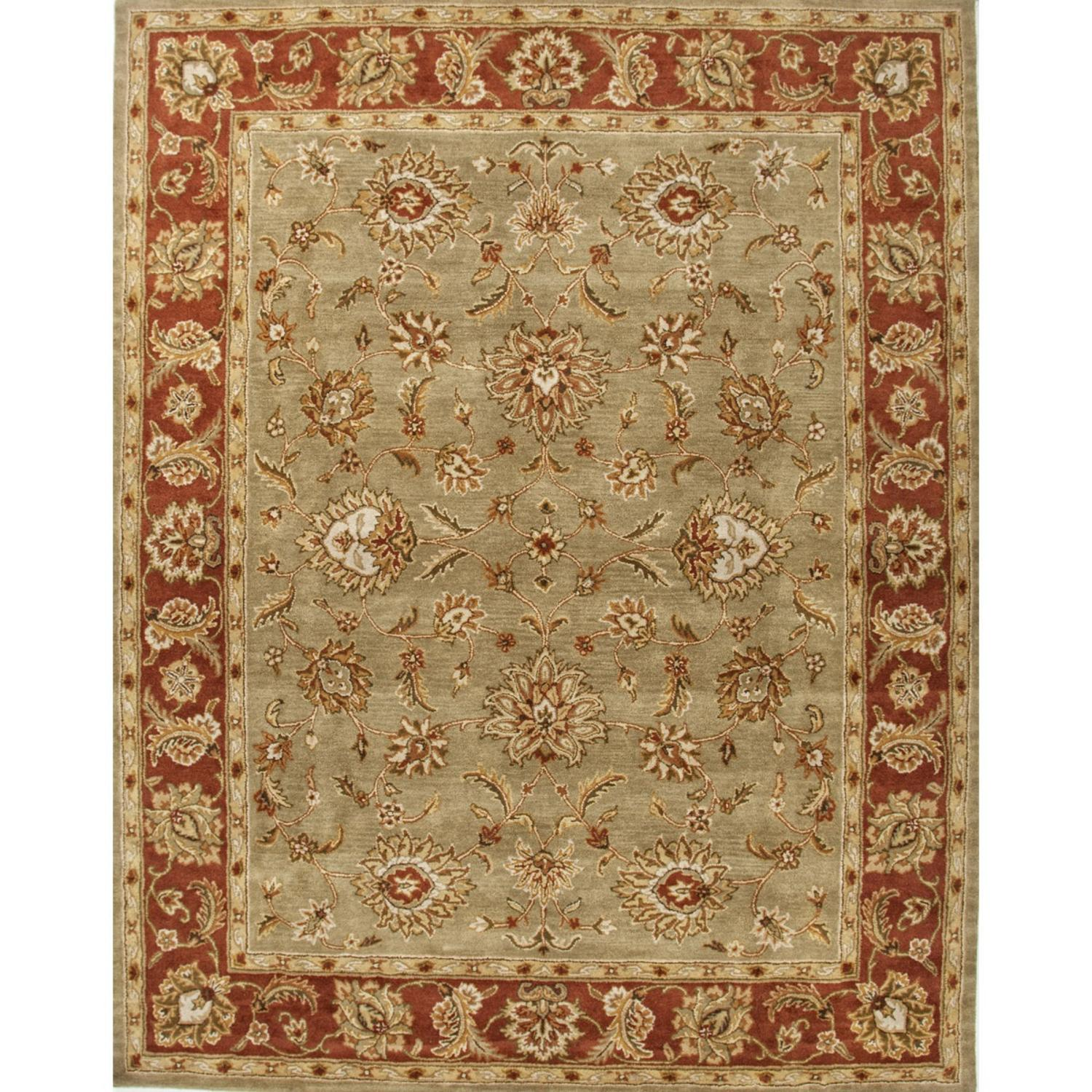 12' x 15' Cloudy Blue and Amber Brown Anthea Hand Tufted Wool Area Throw Rug