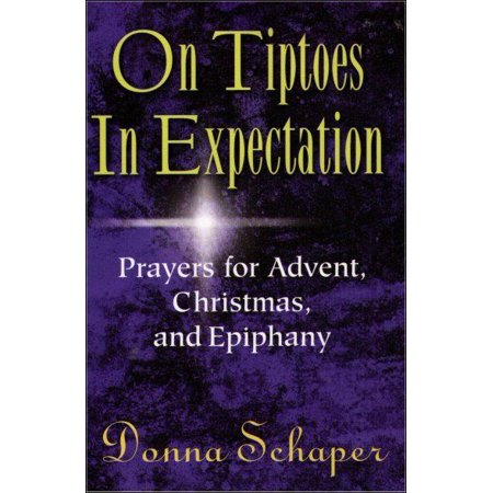 On Tiptoes In Expectation Paperback Book Donna Schaper border=