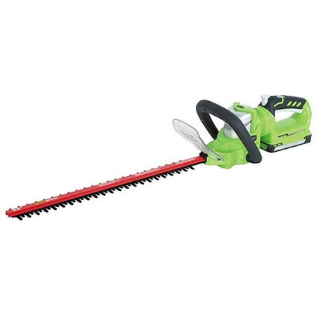 Greenworks 24v 20 Quot Cordless Extended Reach Hedge Trimmer
