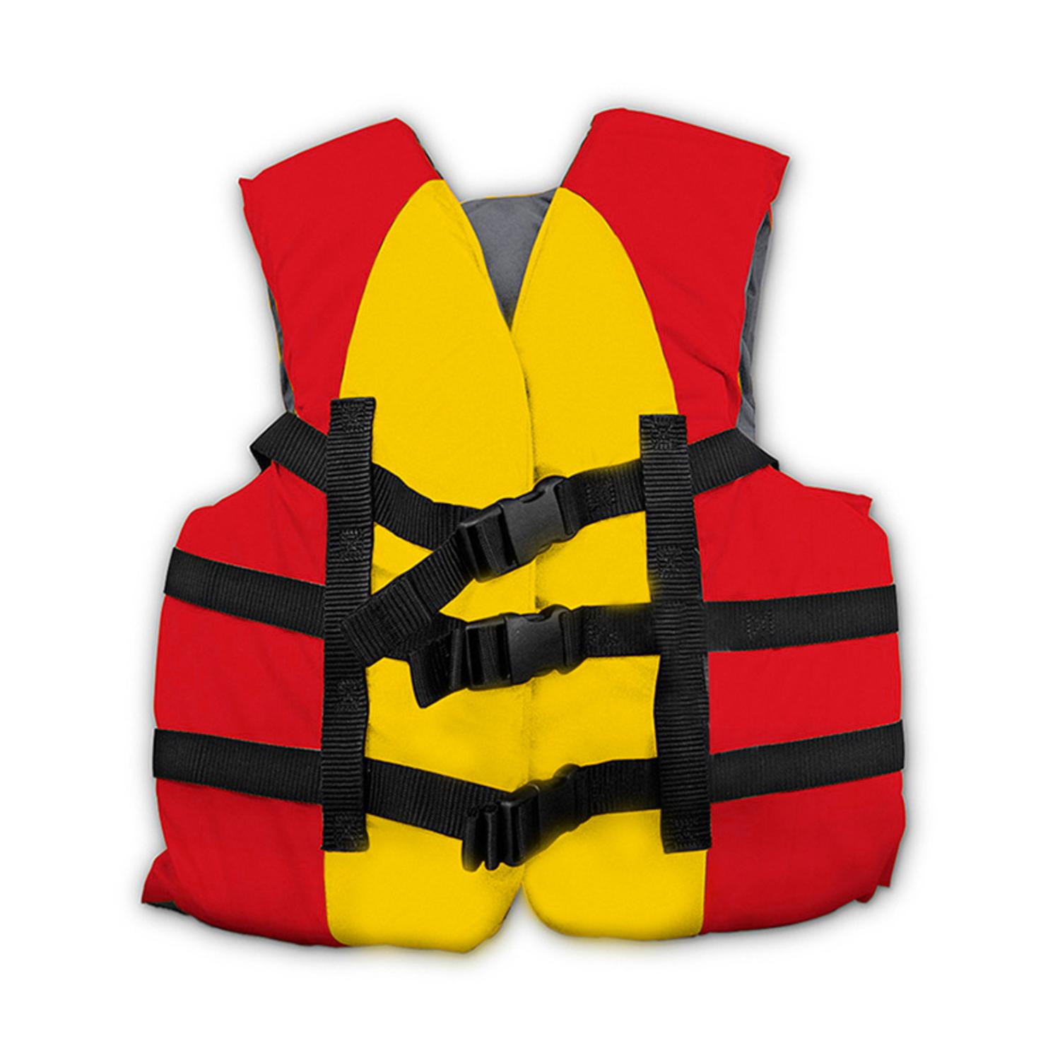 USCG Approved Water or Swimming Pool Red & Yellow Child Life Vest  - Up to 90lbs
