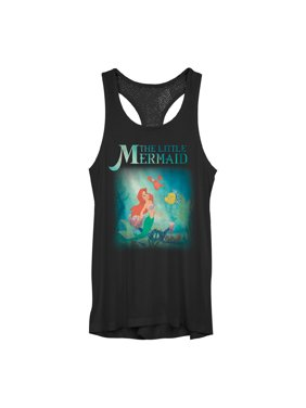 34dc988b0552c2 Product Image The Little Mermaid Juniors' Ariel and Friends Mesh Racerback  Tank