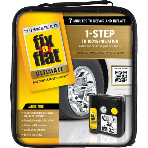 Fix A Flat Ultimate 1 Step Flat Tire Repair Kit Walmart Com