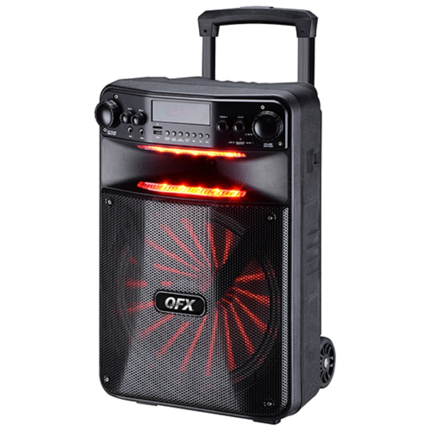 """12"""" Portable Party Speaker w  Party Lights by QFX"""