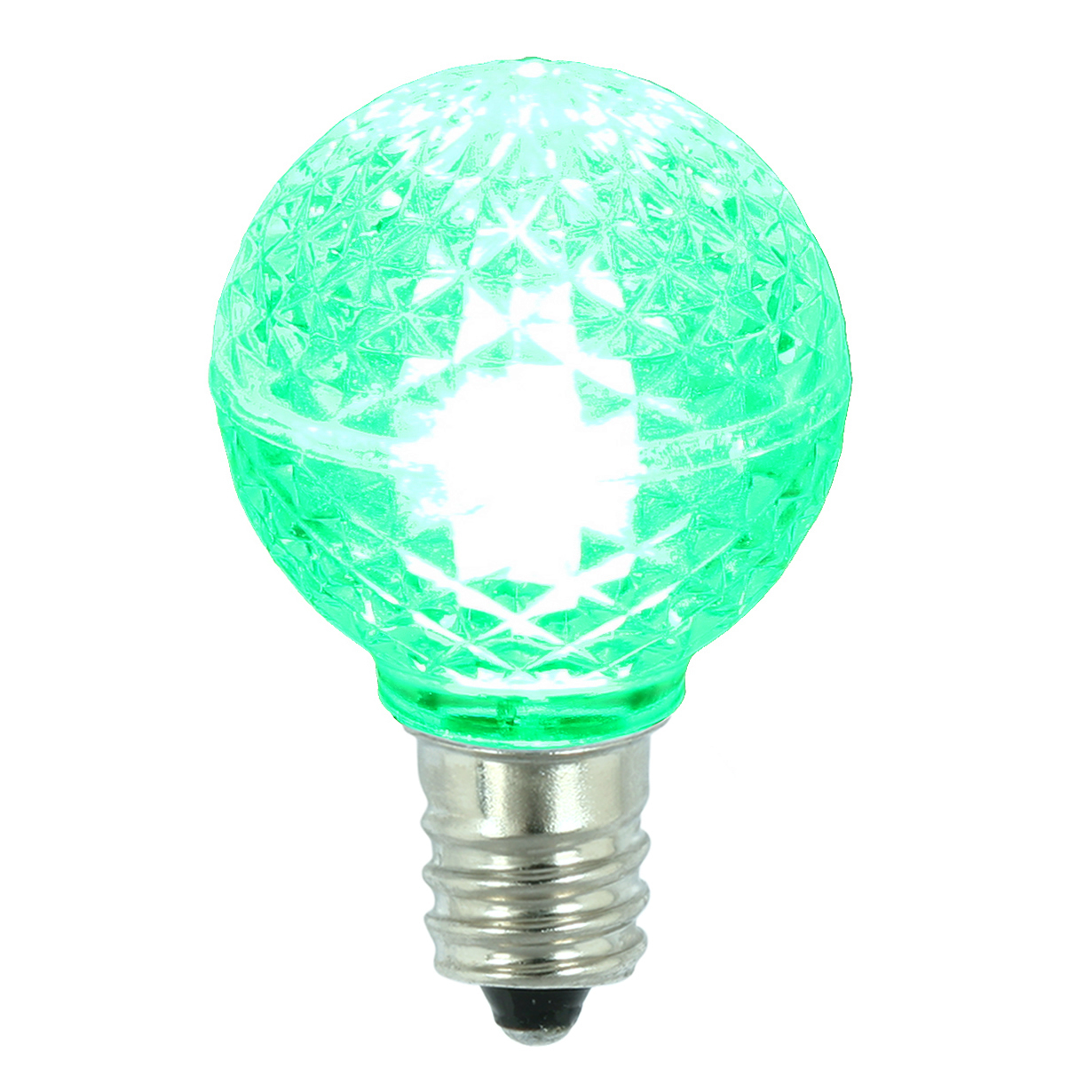 Vickerman G30 Faceted LED Green Replacement Bulb E12 .38W