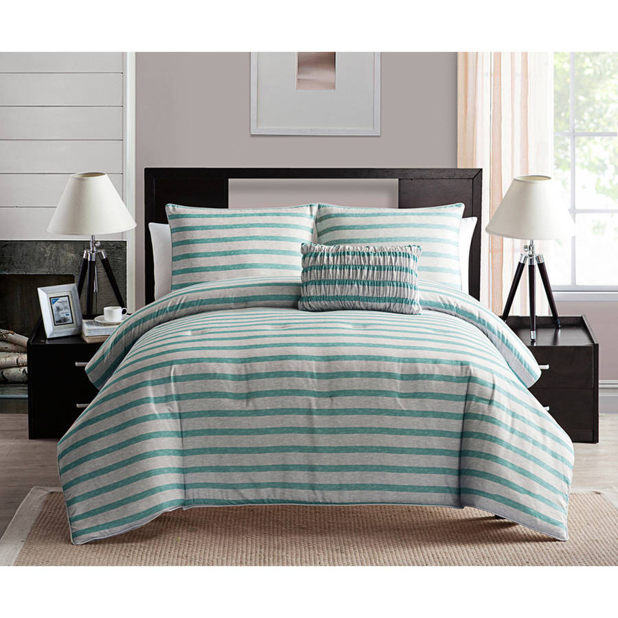 VCNY Ella Two-Tone Stripe Bedding Comforter Set, Multiple Colors Available