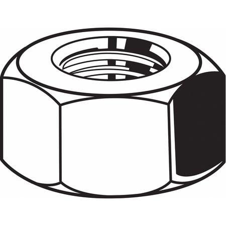 "FABORY 9/16""-12 Grade 8 Zinc Yellow Finish Carbon Steel Hex Nuts, 25 pk., U04122.056.0001"