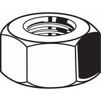 "FABORY 7/16""-20 Grade 2 Plain Finish Carbon Steel Hex Nuts, 50 pk., U08160.043.0002"