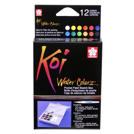 Sakura Koi Watercolor Pocket Field Sketch Box Set, 12-Colors