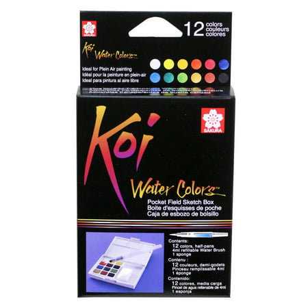 Sakura Koi Watercolor Pocket Field Sketch Box Set, 12-Colors - Sakura Koi Watercolor