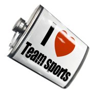 NEONBLOND Flask I Love team sports