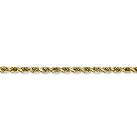 10k Yellow Gold 3.35mm Quadruple Link Rope Chain Necklace 30 Inch Pendant Charm Handmade Fine Jewelry For Women Valentines Day Gifts For Her - image 5 of 9