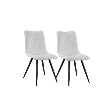 Set Of 2 Dining Chairs Faux Leather Kitchen Chairs For Dining Room White Walmart Com