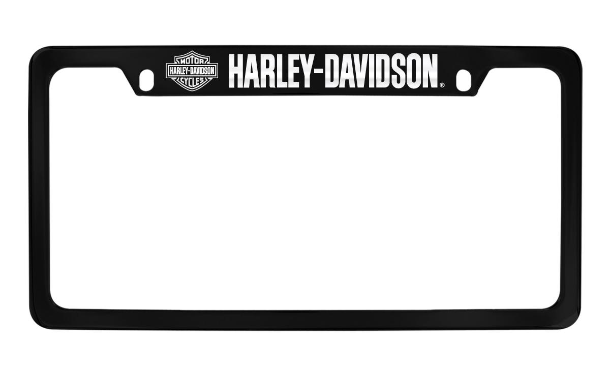 Harley-Davidson Black Frame Chrome Imprints Bar & Shield Harley-Davidson Wordmark on Top Chrome Imprints on a Black... by Harley-Davidson