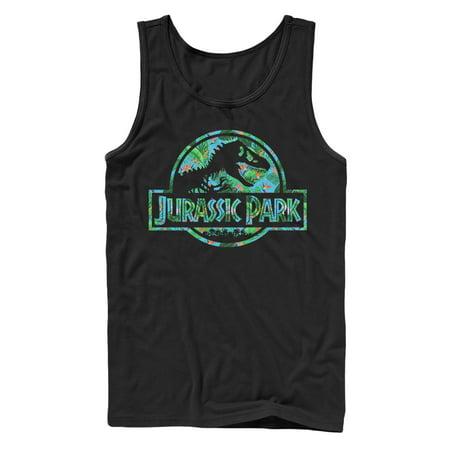 Jurassic Park Men's Floral T Rex Logo Tank Top
