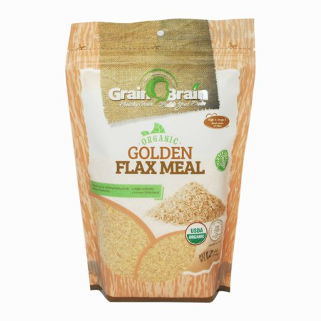 Flax Seed Gluten Free - Grain Brain Golden Flax Seed Meal, Organic,(12 Oz) Gluten Free, Non-GMO, Packaged in Resealable Pouch Bags to preserve Freshness