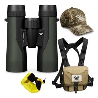 Vortex 10x42 Crossfire HD Roof Prism Binoculars with GlassPak Harness Case, Cap and Floating Strap Bundle