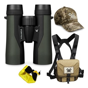 Vortex 10x42 Crossfire HD Roof Prism Binoculars Bundle