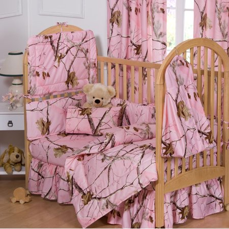 Realtree APC Pink Crib Bedskirt Infant Realtree Camo