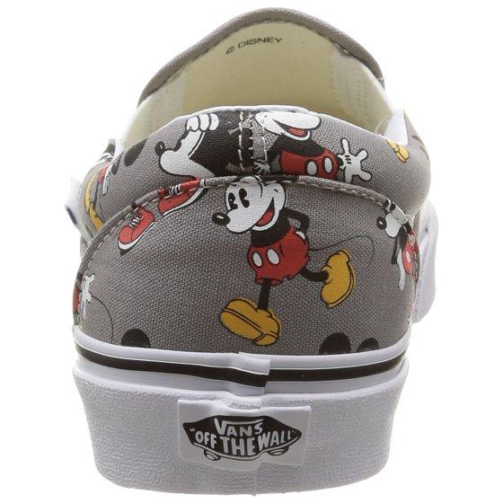 a286d46689 Vans - Vans Men s Classic Slip-On Disney Mickey Mouse   Frost Grey  Ankle-High Canvas Skateboarding Shoe - 10M - Walmart.com
