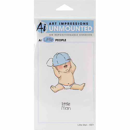 Art Impressions Little People Collection Cling Rubber Stamp