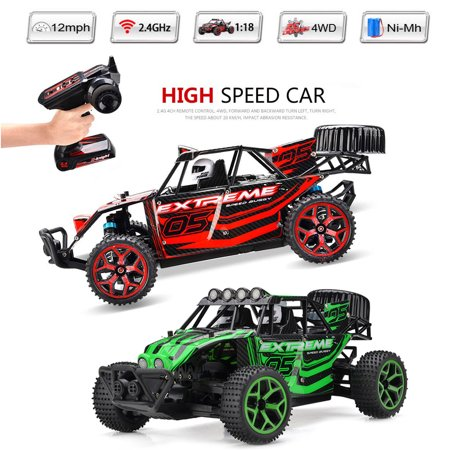 1/18 Scale Electric RC Racing Car Off Road Truck 2.4Ghz 4WD Extreme Speed Buggy 4wd Off Road Buggy