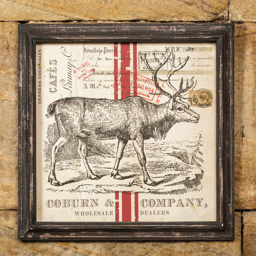 Ragon House Collection Deer Magnetic Cardholder Framed Graphic Art