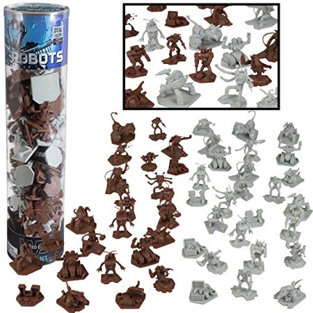 Sci Fi Characters Halloween (Robot Fantasy Sci-fi Action Figures - 52 Ready for Futuristic Battle Toy Figures - With 14 Unique Characters - Great for party favors, role playing games, Shadowrun,)