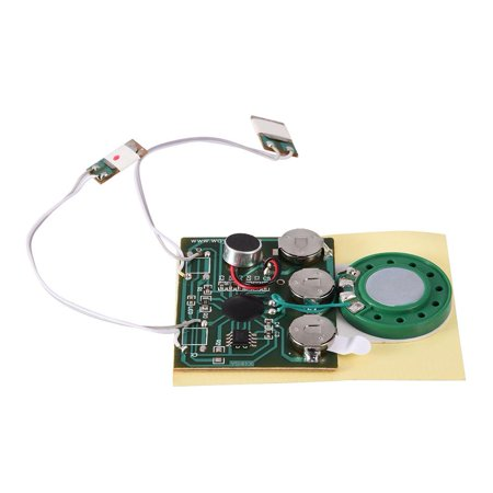 HURRISE Recordable 30s Music Sound Voice Module Chip 0.5W with Button Battery Voice Recording Module For Creative Birthday Holiday Greeting
