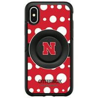 Nebraska Cornhuskers OtterBox Otter+Pop PopSocket Symmetry iPhone Case