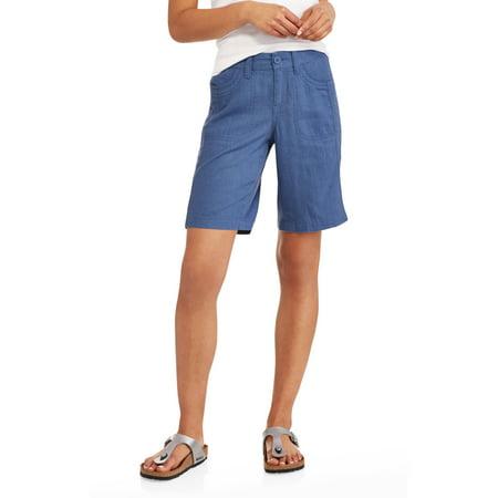 Faded Glory Women's Linen Bermuda Shorts