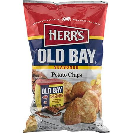 Herr's Old Bay Potato Chips - 9.5 Oz. (3 Bags)