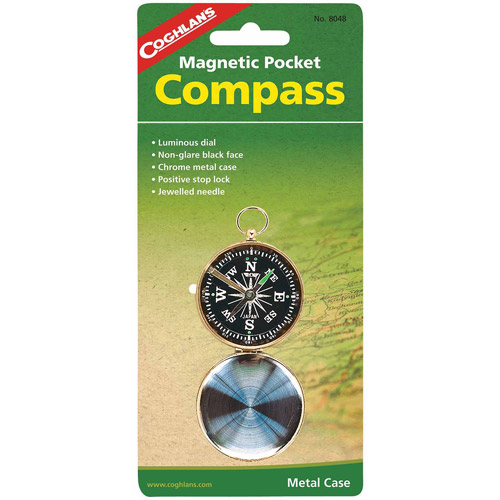 Coghlans Magnetic Pocket Metal Case Compass by Generic