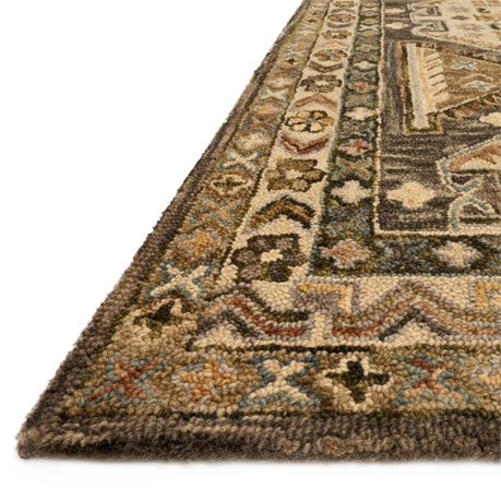 Loloi Victoria 5 X 7 6 Quot Hand Hooked Wool Rug In Walnut