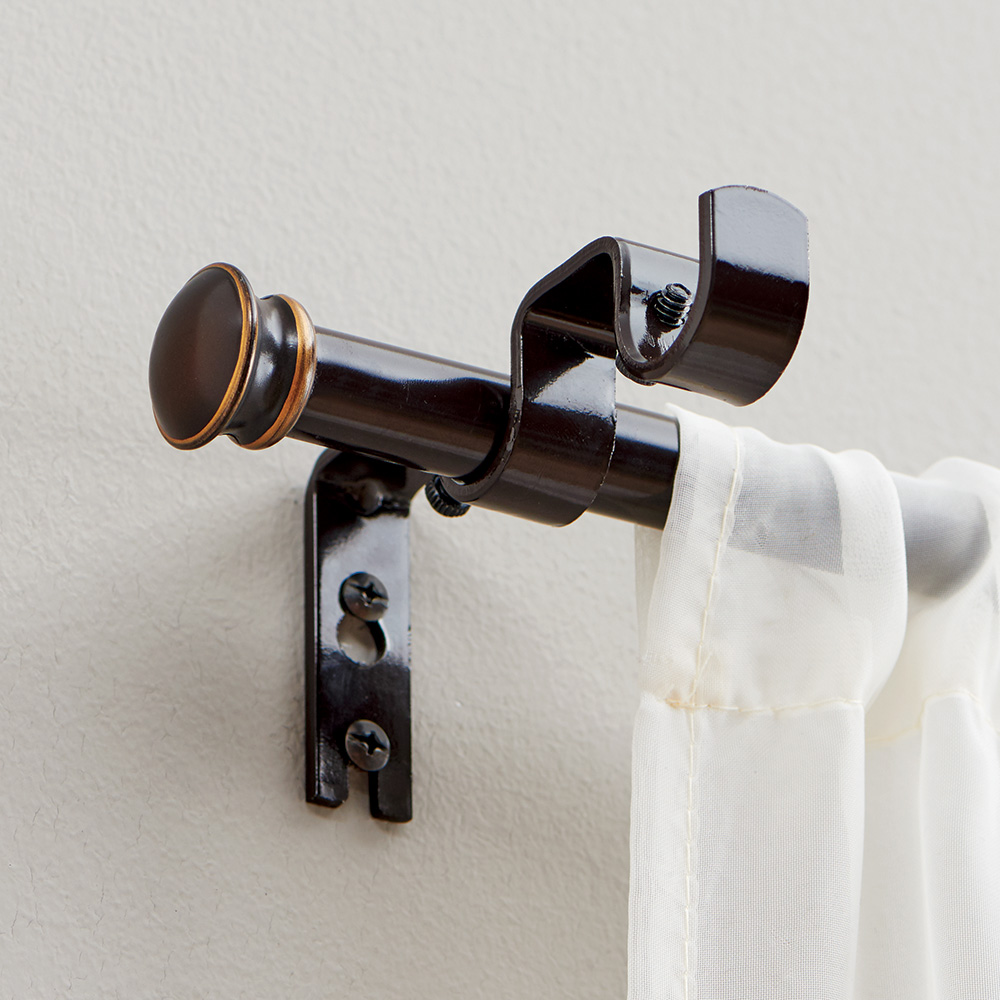"""Better Homes & Gardens 5/8"""" Diameter Oil Rubbed Bronze Add-On Rod, 44 - 120"""" Expandable Width"""